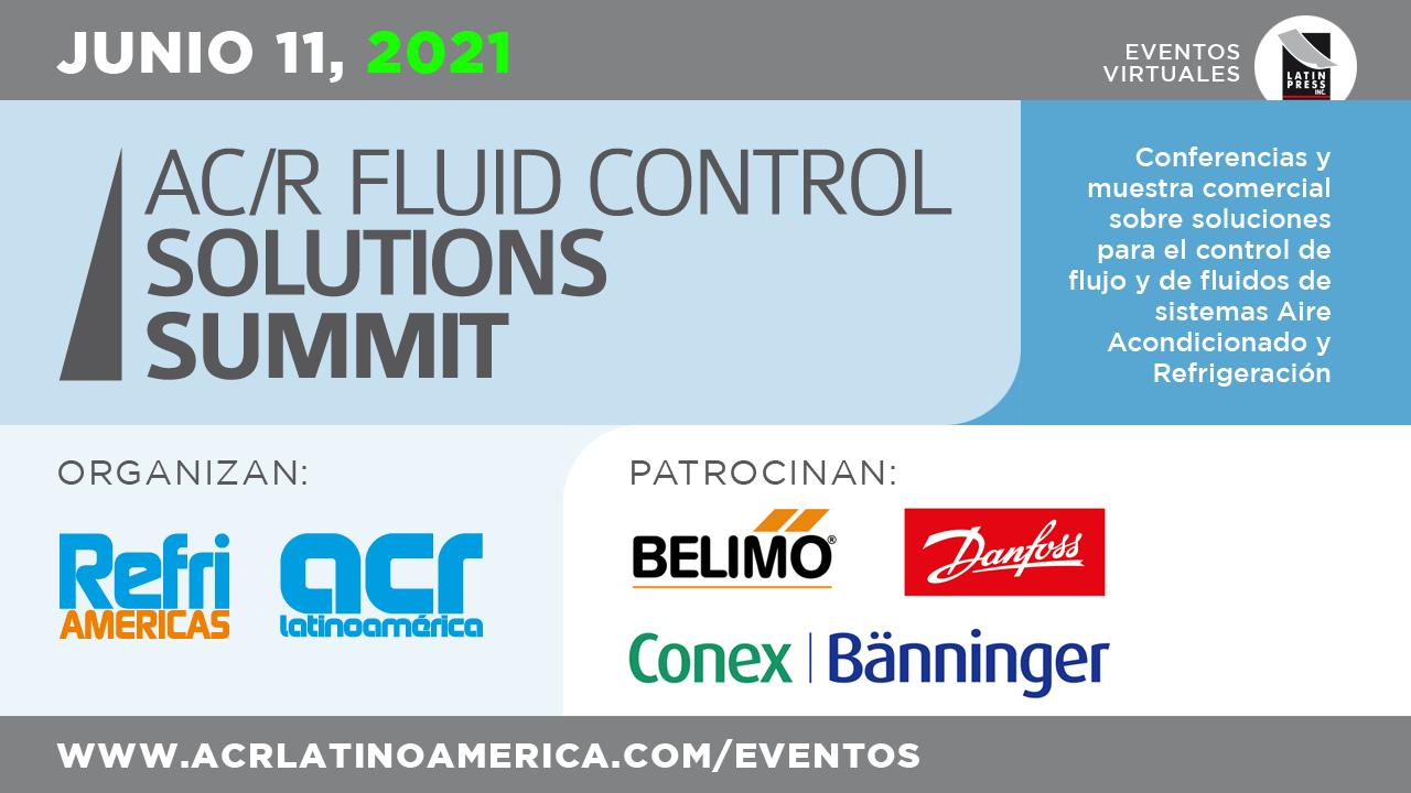 Conferencias y muestra comercial sobre soluciones para el control de flujo y de fluidos de sistemas Aire Acondicionado y Refrigeración