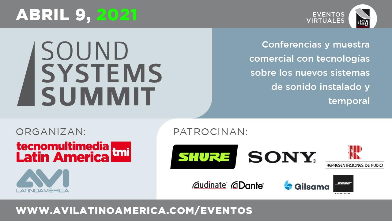 Conferencias y muestra comercial con tecnologías sobre los nuevos sistemas de sonido instalado y temporal