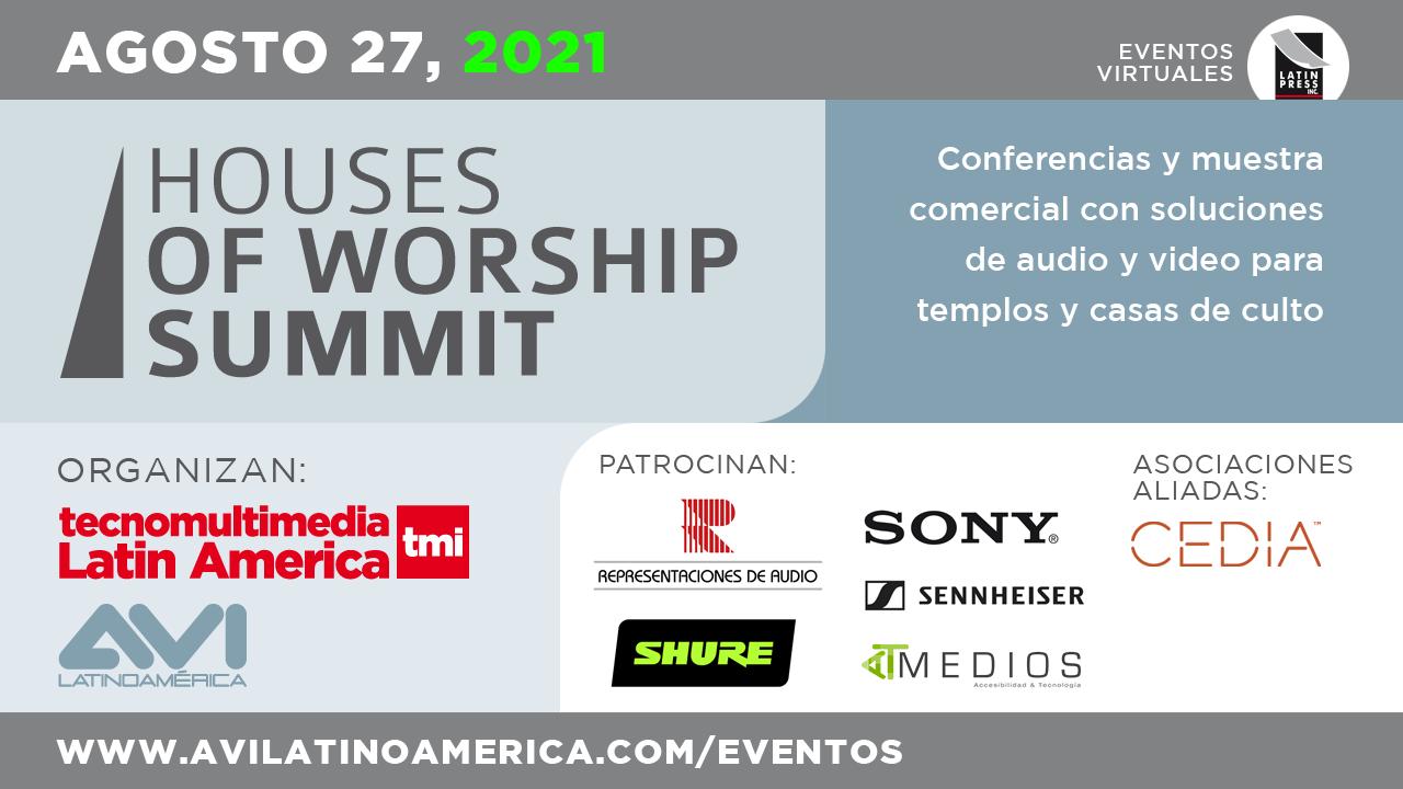 Conferencias y muestra comercial con soluciones de audio y video para templos y casas de culto