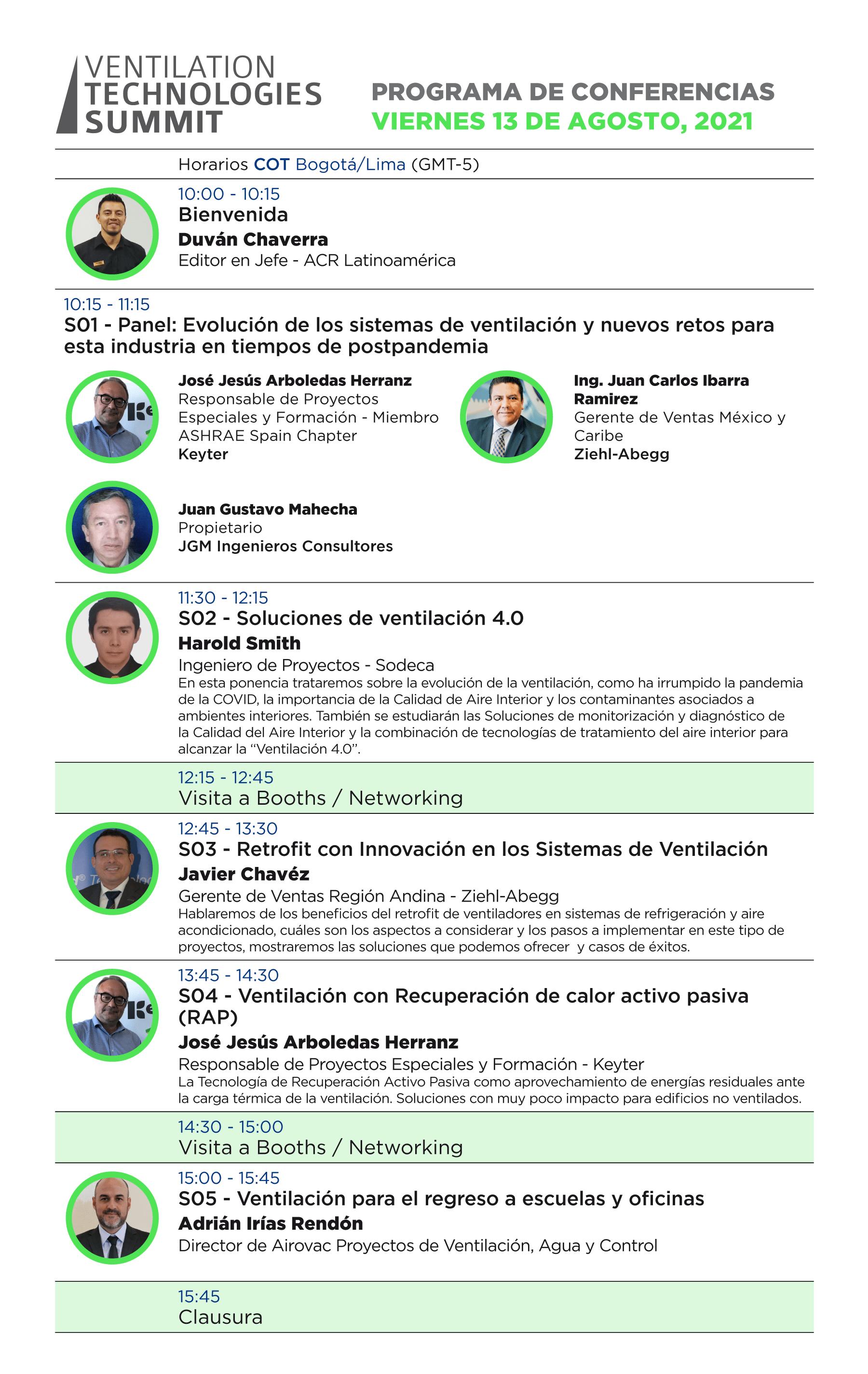 Conferencias y muestra comercial sobre soluciones de ventilación para sector comercial e industrial