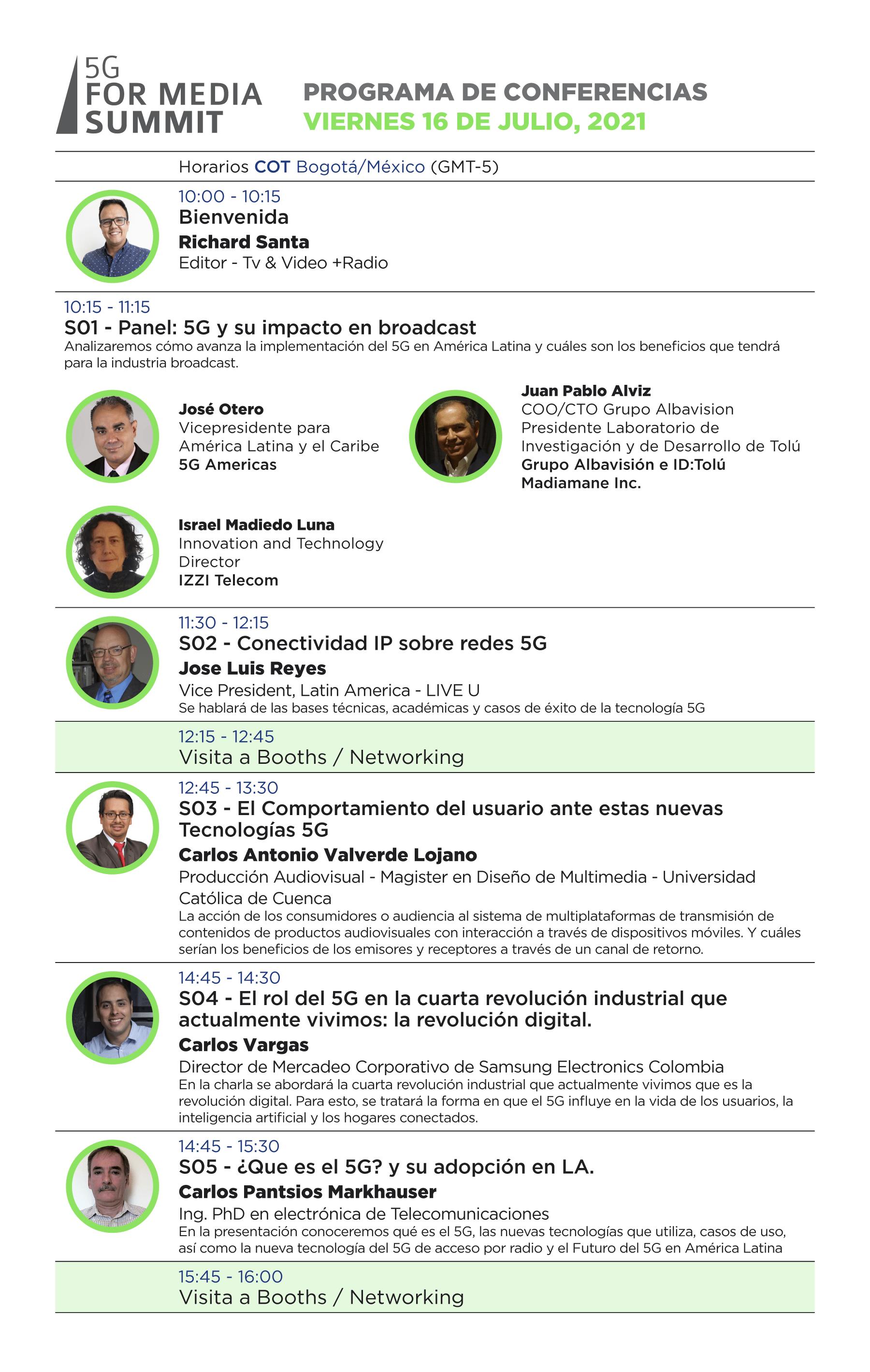 Conferencias y muestra comercial con tecnologías y novedades para la radiodifusión