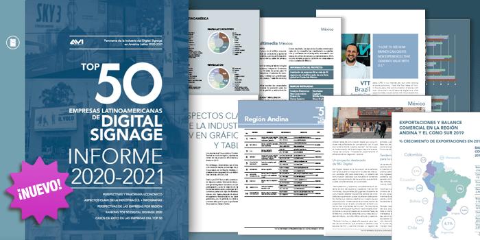 TOP 50 REDES DE DIGITAL SIGNAGE • 2020-2021